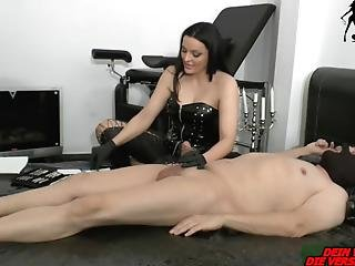 German Bdsm Femdom Domina Fuck The Penis With Tube From Slave