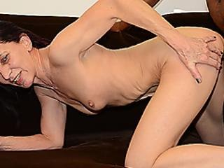 Ugly 69 Years Old Mom First Interracial