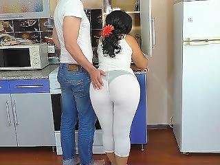 The Stepmother Had Anal Sex In The Kitchen. Big Ass Milf Home Video.