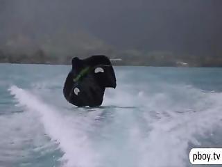 Playboy Bunnies Naked Boating N Eat Sushi