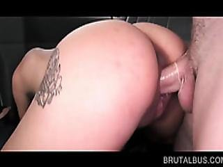 Wet Teen Fucked To Orgasm In The Sex Bus