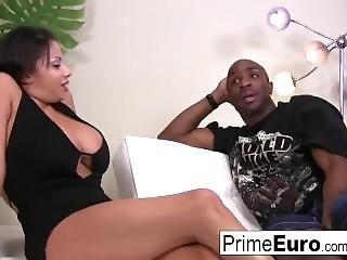 Pretty Brunette Alexis Silver Prefers Black Cock