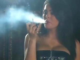Busty Sexy Charley Atwell Smoking Marlboro Reds In Little Latex Dress And S