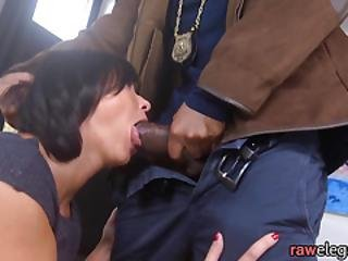 Assfucked Babe Tastes Jizz After Sex