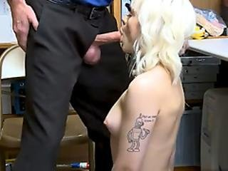 Heavily Inked Teen Punk Thief Got Fucked By A Mall Cop