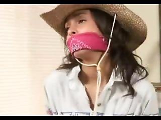 Cowgirl Gagged