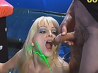 Naked Blonde Look Like Doll Flashing Tattoo In Orgy Sexual Action