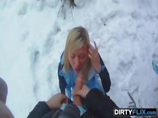 Dirty Flix Jessy Brown Snowboarder Chick Loves Cock