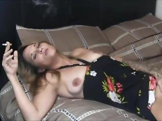 Dirty Talking Slut Mother Smokes And Rubs One Out