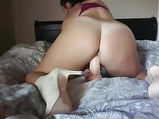 Gf Plays With Her Dildos
