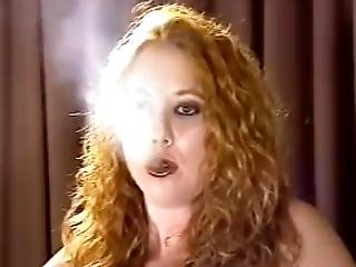 Curly Redhead Smoking