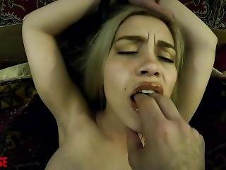 Karter Foxx With Vibrator Strapped To Pussy Pov Blowjob Cum Gargling