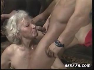 анальный, чертов, Пожилая женщина, оргия, молодой