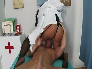 Hard Core Motion Inside A Hospital Not Far From Big-titted Black Haired Doctor Savannah Stern