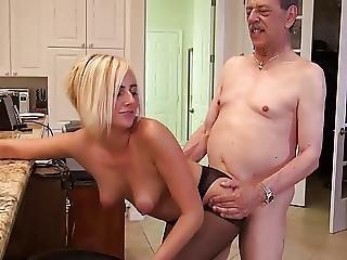 Old Man Fucks Blonde Teen