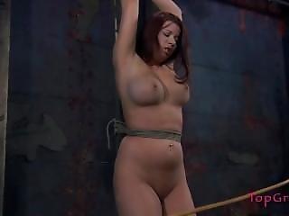 bondage, słup, związana