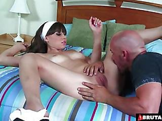 Brutalclips  Bitch In Heat Scratches At The Door To Get Some Cum