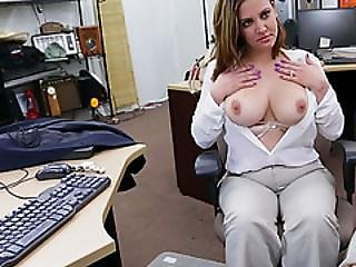 Blonde Big Ass Milf Flaunts Tits And Sucks Huge Cock
