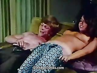 Young Couple Fucks At House Party 1970s Vintage