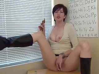 Back-to-school Masturbation Lesson