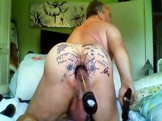 Spring Cleaning, I Cleaned My Tattooed And Pierced Asshole With A Bottle And A Toilet Brush Do You Like It ?