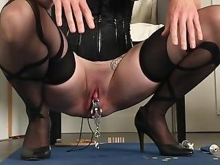 Bdsm Painslut: Clit Torture, Whipped Ass, Piss Drinking