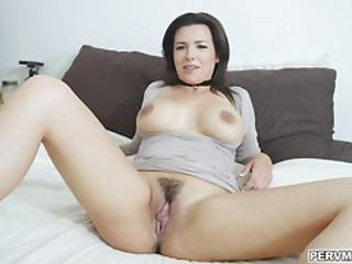 Danica Dillion Lets Her Stepson Have Her Panties And Show Him Her Milf Pussy