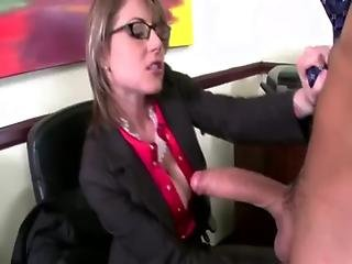 Two Young Guys Get Blown At Thier Office By Milfs
