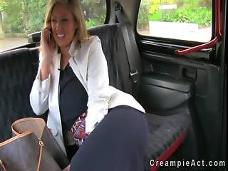 Huge Tits Business Woman Fucks And Gets Creampie In Fake Taxi