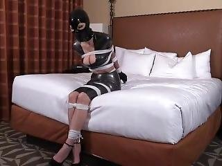 Ashley Renee Tied While In Latex