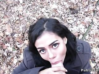 Hot Latina Fucks Public Agent In Forest