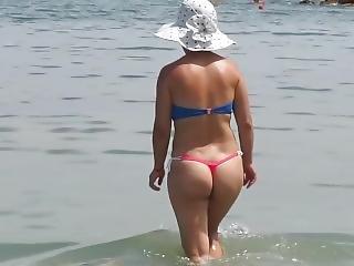 Amateur, Kont, Dikke Kont, Bikini, Milf, Publiek, Solo