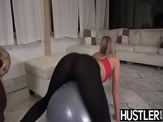 Shapely Babe Scarlet Red Throated Before Drilling Workout