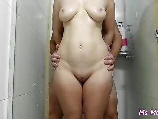 [mini] Shower Show, Handjob, Assjob, Cum On Belly