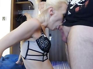 Blonde Older Woman Deepthroat Blowjob