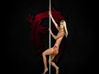 Hey Joe - Blonde Beauty Pole Dance Tease