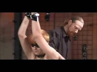 Bondage, Caning, αυταρχικό, φετίχ, κοκκινομάλλα, χαστούκια, κάλτσα, μαστίγιο