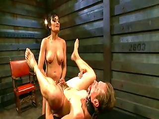 He Could Not Hold While Her Mistress Fucking Him