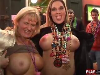 Amateur, Blonde, Boob, Brunette, Groupsex, Mardi Gras, Outdoor, Teasing