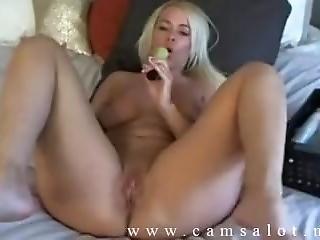 Blonde Slut Using Dildo_www.camsalot.net