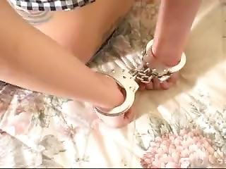 Girl Handcuffed And Tapegagged