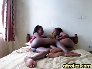 African Lesbians Are More Than Ready To Take Care Of Each Others Shaved Pussies They Enjoy Using Their Fingers And Tongues In A Bedroom