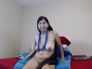 amatoriale, asiatica, mora, carica, fetish, capelli lunghi, provocatoria, webcam