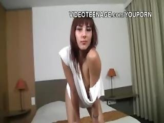 Lovely Girl First Video Strip Tease Casting
