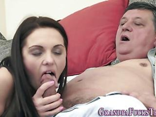 Hot Teen Rides Old Perv