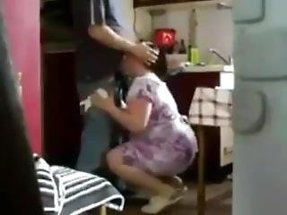 Taboo Mother With Her Son In The Kitchen