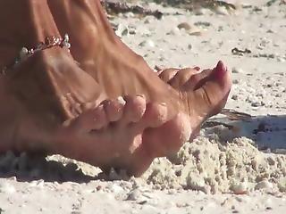 Mature Feet Beach 3