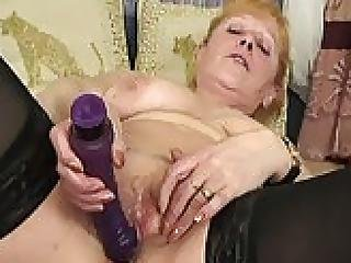 Mata Lusty Mature In Stockings Fucked By Younger Guy