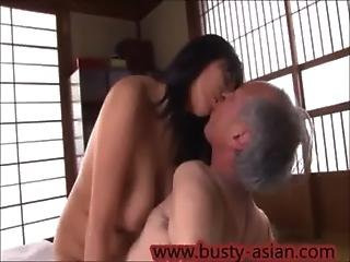 Young Busty Asian Girl Fucked By Old Man