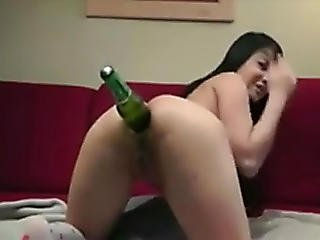 ano, asiático, botella, oriental, solo, Adolescente, Adolescente Anal